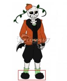 Undertale AU Pumpkin Tale Punpkin Sans Black Green Cosplay Shoes