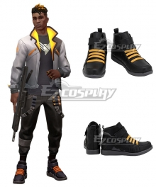 Valorant Phoenix Black Yellow Cosplay Shoes
