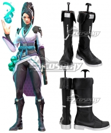 Valorant Sage Black Shoes Cosplay Boots