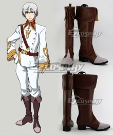 Valvrave Eruerufu Karurusutain Brown Shoes Cosplay Boots