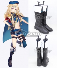 Virtual YouTuber Vtuber Suzuki Hina Black Shoes Cosplay Boots