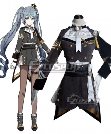 Vocaloid 2020 Game Project Sekai Hatsune Miku Military Uniform Cosplay Costume