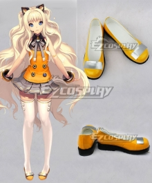 Vocaloid 3 SeeU Yellow Cosplay Shoes