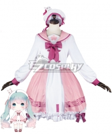 Vocaloid Diva Sakura Miku Hatsune Miku Lolita Dress Cosplay Costume