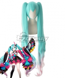 Vocaloid Hatsune Miku 2020 Magical Mirai Green Pink Cosplay Wig