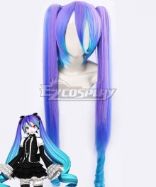 VOCALOID Hatsune Miku ANTI THE HOLiC Halloween Purple Blue Cosplay Wig