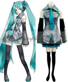 Vocaloid Hatsune Miku Initial Cosplay Costume