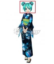 Vocaloid Hatsune Miku Kimono Meatball-like Blue Cosplay Wig