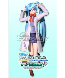 Vocaloid Hatsune Miku Lab Girl Cosplay Costume