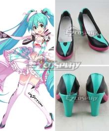 Vocaloid Hatsune Miku Racing Girl 2019 Black Cosplay Shoes
