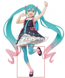 Vocaloid Hatsune Miku Spring Clothing Ver. Pink Black Cosplay Shoes