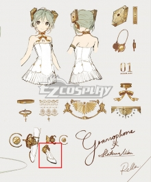 Vocaloid Hatsune Miku Symphony 2020 5th Anniversary White Cosplay Shoes
