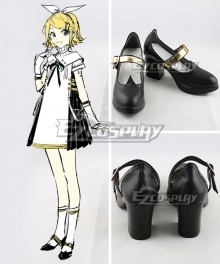 Vocaloid Kagamine Rin Symphony 2018 Black Cosplay Shoes