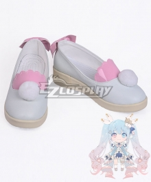 Vocaloid Late Winter Miku 2019 Pink Cosplay Shoes