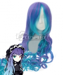 VOCALOID Luka ANTI THE HOLiC Halloween Blue Purple Cosplay Wig