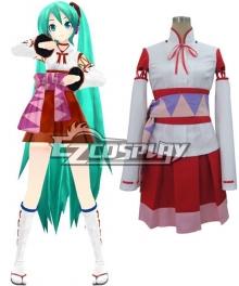 Vocaloid Project Diva F White Kimono Miku Cosplay Costume
