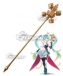 Vocaloid Racing Miku 2018 Visual Microphone Stick Cosplay Weapon Prop