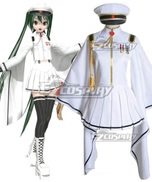 Vocaloid Senbonzakura Hatsune Miku White Miku Cosplay Costume