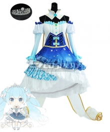 Vocaloid Snow Miku 2019 Cosplay Costume