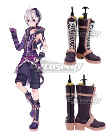 Vocaloid V4 Flower Purple Shoes Cosplay Boots