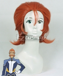 Voltron: Legendary Defender Coran Red Brown Cosplay Wig