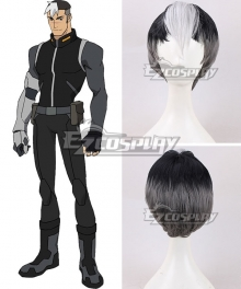 Voltron: Legendary Defender Shiro Takashi Shirogane Black White Cosplay Wig