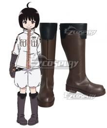 World Trigger BORDER Chika Amatori Brown Shoes Cosplay Boots