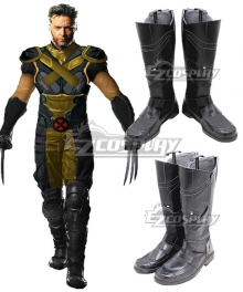 X-Men Origins: Wolverine Wolverine Black Shoes Cosplay Boots