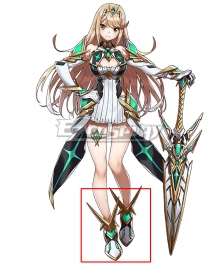 Xenoblade Chronicles 2 Mythra White Cosplay Shoes