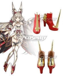 Xenoblade Chronicles 2 Nia Blade Form Red Cosplay Shoes