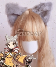 Xenoblade Chronicles 2 Nia Gray Animal Ears Cosplay Accessory Prop