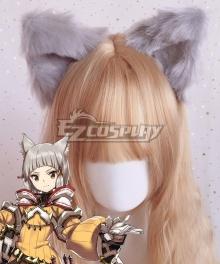 Xenoblade Chronicles 2 Nia Gray Animal Ears Cosplay Accessory Prop