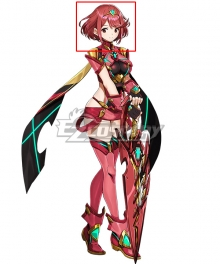 Xenoblade Chronicles 2 Pyra Red Cosplay Wig