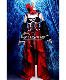Ruler Noble Court Style SJD Black+Red Gothic Lolita Dress Cosplay Costume-Y222