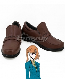 Your Turn to Die Sara Chidouin Kanna Kizuchi  Brown Cosplay Shoes