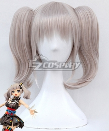 YouTube Kaguya Luna Official Grey White Cosplay Wig