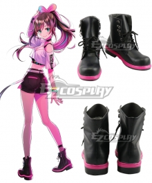YouTuber Kizuna AI A.I.Channel A.I.1st Live Hello World Black Cosplay Shoes