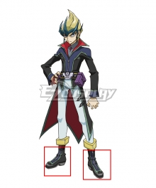 Yu-Gi-Oh! Yugioh Arc-V Kite Tenjo Black Shoes Cosplay Boots