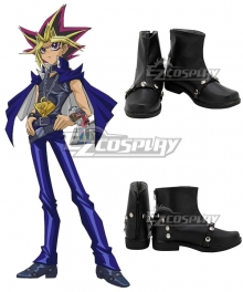 Yu-Gi-Oh Yugioh Duel Monsters Muto Yugi Black Cosplay Shoes