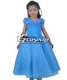 Disney Movie Cinderella Kids Deluxe Princess Dress Cinderella  Kids Cosplay Costume