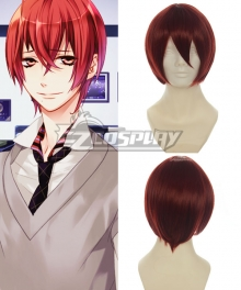 Starry Sky Tomoe Yo Reddish Brown Cosplay Wig-001A