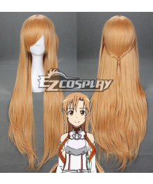 Sword Art Online SAO Sodo Ato Onrain Knights of the Blood Lambent Light Yuuki Asuna  Asuna Yuki Long Orange-brownish Chestnut Hair Cosplay Wig - 314B