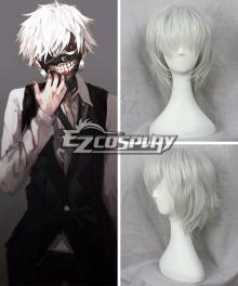 Tokyo Ghoul Tokyo Guru Kaneki Ken White Cosplay Wig 346A