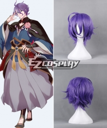 Touken Ranbu Kasen Kanesada Purple Cosplay Wig - 363D