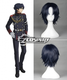 Seraph of the End Owari no Serafu Vampire Reign Guren Ichinose Ichinose Guren Short Dark Blue Cosplay Wig - 366C