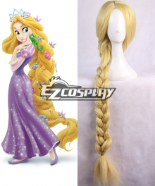 Disney Tangled Princess Rapunzel Long Golden Yellow Cosplay Wig - 395A