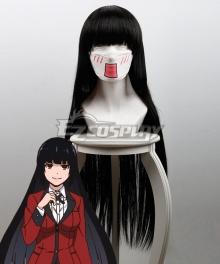 Kakegurui Compulsive Gambler Yumeko Jabami Black Cosplay Wig 441A