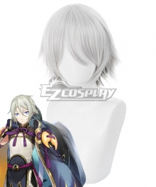 Fate Grand Order FGO Saber Prince of Lan Ling Gradient Silver Grey Cosplay Wig - 235BB