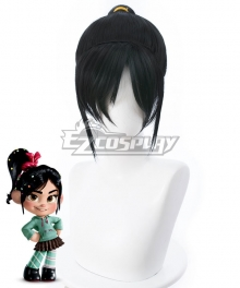 Disney Ralph Breaks The Internet: Wreck-It Ralph 2 Vanellope Von Schweetz Ponytail Black Cosplay Wig - 405E
