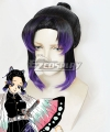 Demon Slayer: Kimetsu No Yaiba Shinobu Kochou Black Purple Cosplay Wig - B Edition